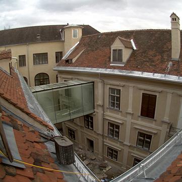 Livebild Webcam 2 - Baustelle 'Joanneumsviertel', Universalmuseum Joanneum, Graz (Standbild)